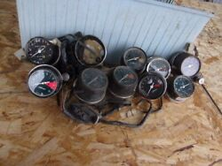 Box Of Assorted 1970and039s - 1980and039s Used Vintage Honda Gauges And Parts 27-b02-20
