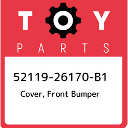 52119-26170-b1 Toyota Cover, Front Bumper 5211926170b1, New Genuine Oem Part