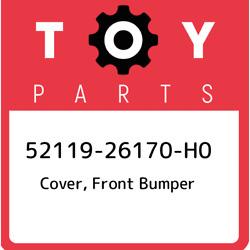 52119-26170-h0 Toyota Cover, Front Bumper 5211926170h0, New Genuine Oem Part