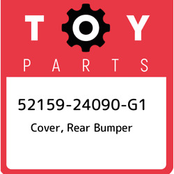 52159-24090-g1 Toyota Cover Rear Bumper 5215924090g1 New Genuine Oem Part