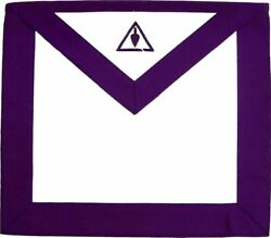 Masonic Council Royal And Select Master Rsm Member Apron Hand Embroidered
