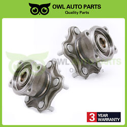 Rear Wheel Hub Bearing Set Pair For 2002-2006 Nissan Altima Quest W/ Abs 512201