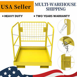 Forklift Safety Cage Work Platform Lift Basket Heavy Duty Collapsible 36 X 36