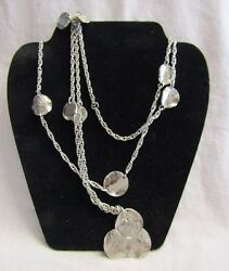 Hand Made Costume Jewelry Silver Tone Coin 56 Necklace Marked S 33