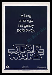 Star Wars B MOVIE POSTER 27x41 ROLLED NEVER-FOLDED ☆ ARCHIVAL MUSEUM LinenB
