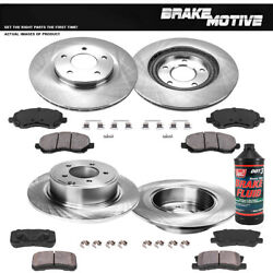 Front And Rear Brake Rotors And Ceramic Pads For Avenger Sebring Compass Patriot