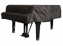 Steinway Black Quilted Grand Piano Cover With Side Slits For 5'10-3/4 Model L