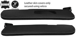 White Stitch 2x Sun Visors Leather Covers For Saab 900 Classic Convertible