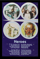 Star Wars ☆ 1977 BRITISH DOUBLE CROWN ☆ RARE 20x30 MOVIE POSTER ☆ Alec Guinness!