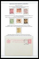 Lot 30363 Collection Square Cancels On Stamps Of Dutch East Indies.