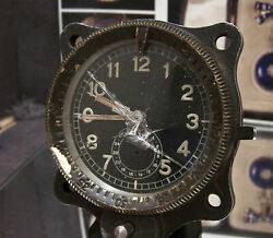 Anitque Vintage Junghans Me 109 Ww2 Luftwaffe Military Aircraft Clock For Repair