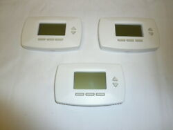 Lot Of 3 Honeywell Rth7500d Programmable Thermostat Cooling Heating Heat Pump