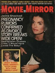 Movie Mirror March 1973 Jackie Kennedy Onassis Elizabeth Taylor 070119ame2