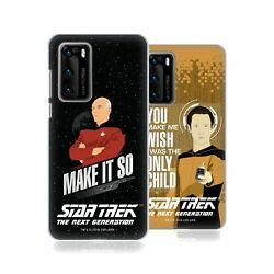 Official Star Trek Iconic Phrases Tng Back Case For Huawei Phones 1
