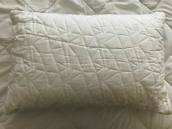 Snoozeasy Shredded Natual Latex Pillow Queen Size 28x16in Cotton Cover
