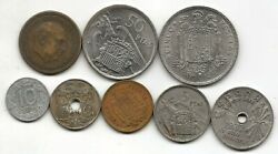 Set Of The Eight Models Most Representativos In Currency Of Francisco Franco