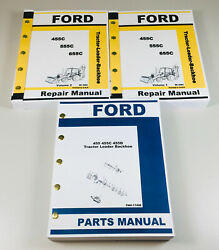Ford 455c Tractor Loader Backhoe Service Repair Manual Parts Catalog Set