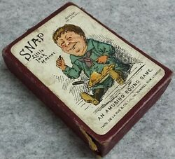 Complete Boxed Snap An Amusing Round Playing Card Game Thos De La Rue Vintage