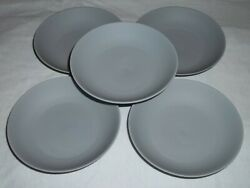 Set Of 5 Mariage Freres Paris France 4.75 Clay Gray Serving Plates Saucers S7