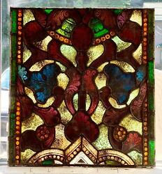 Great Antique Mayer Of Munich Stained Glass Window From A Closed Church - 1c
