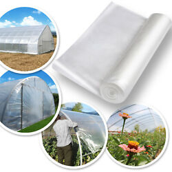 10/ 12x25ft Greenhouse Clear Plastic Film 6mil Transparent Polyethylene Covering