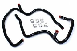 HPS Black Heater Hose Kit Coolant 08-10 Grand Cherokee SRT8 w/o rear climate
