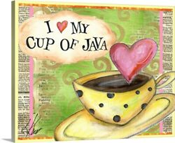 Cup Of Java Canvas Wall Art Print Coffee And Tea Home Decor