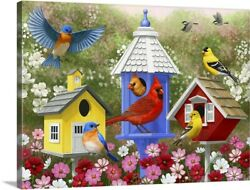 Primary Colors Canvas Wall Art Print Cardinal Home Decor