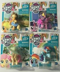 My Little Pony Set Of 4 Applejack Rainbow dash Fluttershy 2 Inch Figures new