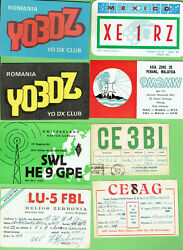 Ss. Job Lot Of Qsl Shortwave Radio Contact Cards - About 900