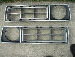 Gently/used Pair Of 1976/77 Ford F-series Front Center Grilles Clean/sharp/pair