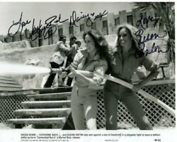 Catherine Bach And Susan Anton Signed Autographed Cannonball Run Ii Photo