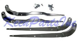 1968-1974 Early C3 Corvette Chrome Seat Side Rail Set 4 Pieces With Hardware