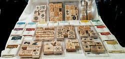 Stampin Up Bundle 15 New Sealed Stampin Up Ink Pads + Lot Of Preowned Stamps