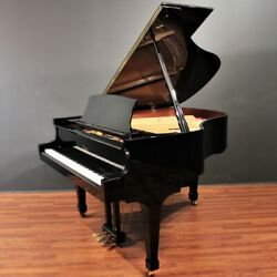 Steinway Boston 5'4'' Player Grand Piano GP-163 Polished Ebony PianoDiscQRS