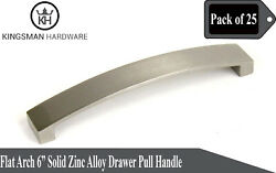 Set Of 25 - Flat Arch 6' Solid Zinc Alloy Drawer Bar Pull Handle