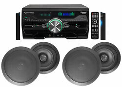 Dv4000 4000w Home Theater Dvd Receiver+2 8 Black Ceiling Speakers