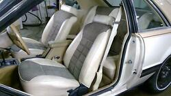 82 Ford Mustang Seat Set (Manual Cream Cloth) OEM Used