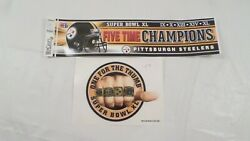 2 Never Used Super Bowl Xl Pittsburgh Steelers Stickers, 1 Bumper Sticker