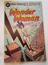 Wonder Woman 1 1976 1st French Language Edition Twin Towers Dc Comic Book