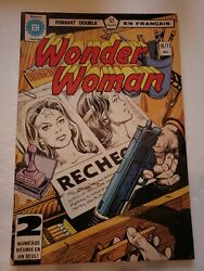 Wonder Woman 16/17 Double Sized French Language Edition 1979 Dc Comic Book Rare