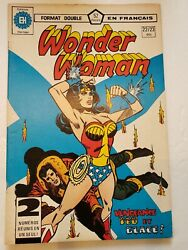 Wonder Woman 22/23 Double Sized French Language Edition 1978 Dc Comic Book Rare