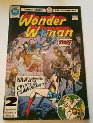 Wonder Woman 24/25 Double Sized French Language Edition 1978 Dc Comic Book Rare