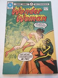 Wonder Woman 30/31 Double Sized French Language Edition 1978 Dc Comic Book Rare