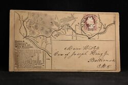 New Hampshire Plymouth 1850s Hotel + Map And Cameo Back Advertising Cover Map