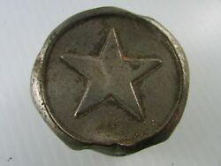 Vintage Star Threaded Hub Cap Possibly Plated Brass 90 Grams