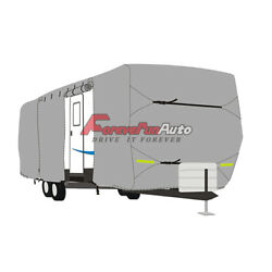 Waterproof Travel Trailer Rv Cover Fits Trailer Camper 30and039-33and039 W/ Zipper
