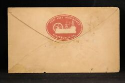 Pa Pittsburgh Ca. 1854 Fort Pitt Iron Works Red Cameo Advertising Cover