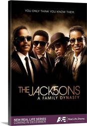Solid-Faced Canvas Print Wall Art entitled The Jack5ons - TV Poster