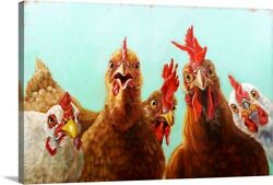 Chicken for Dinner Canvas Wall Art Print Rooster Home Decor